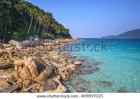 The Perhentian islands in Malaysia