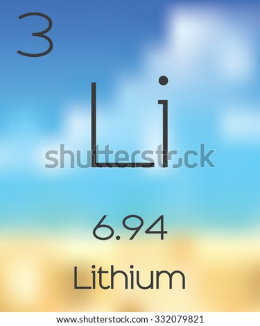 The Periodic Table of the Elements Lithium - stock photo
