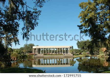 The Peristyle New Orleans City Park - stock photo