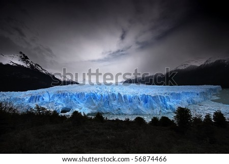 The Perito Moreno Glacier - stock photo