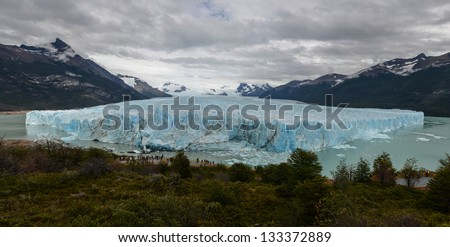 The Perito Moreno Glacier is a glacier located in the Los Glaciares National Park, Argentina. It is one of the most important tourist attractions in the Argentina, Patagonia.