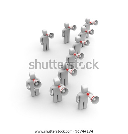 The person draws attention. In the form of one number - stock photo