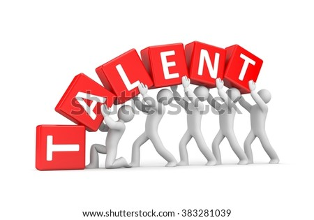The person supports his talent - stock photo