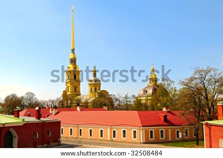 the Peter and Paul fortress in St. Petersburg, Russia - stock photo