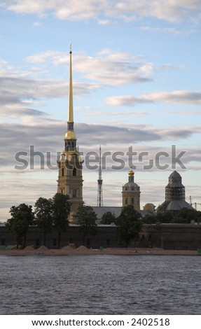 The Peter and Paul fortress, St.Petersburg, Russia - stock photo