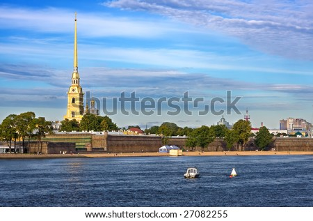 The Peter and Paul Fortress, St. Petersburg, Russia