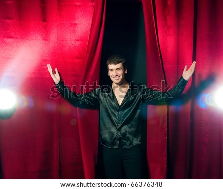 The Phantom of the Opera at the stage - stock photo