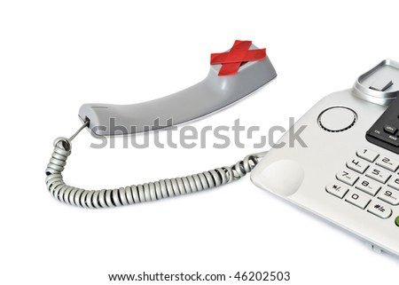 The phone device is preventing the use of symbolic. - stock photo