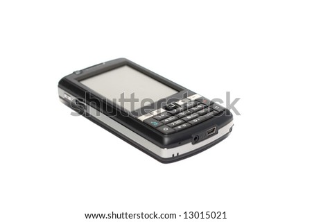 The phone on a white background - stock photo