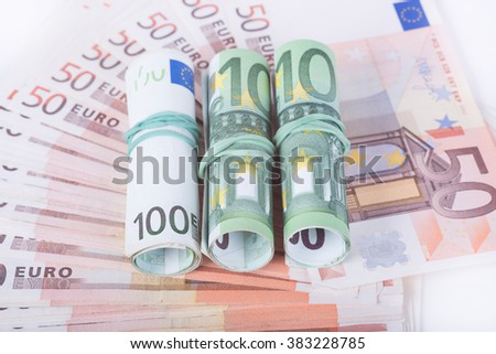 The photo European currency euro.