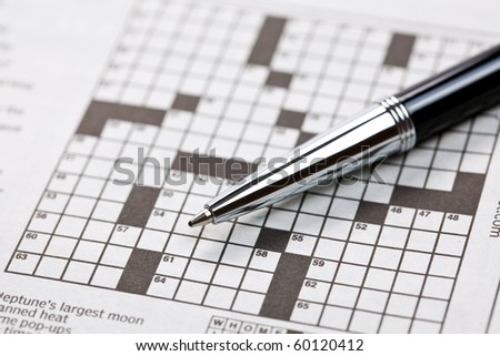 the photo shot of crossword - stock photo