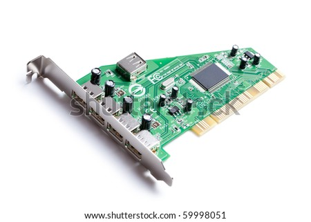 the photo shot of electronic circuit board - stock photo