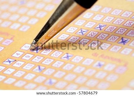 the photo shot of lottery - stock photo