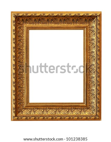 The picture frame isolated on white - stock photo