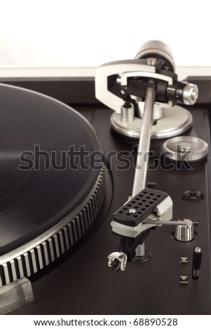 The picture shows a record player. - stock photo