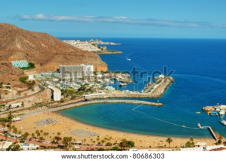 The picturesque Puerto Rico in Gran Canaria, Spain