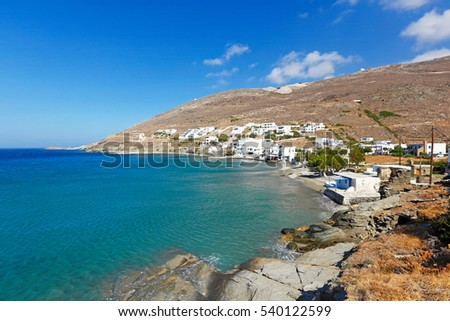 The picturesque village Isternia in Tinos island, Greece