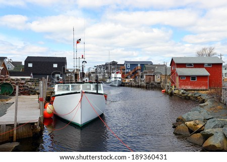 The picturesque village of Eastern Passage, just outside Halifax, Nova Scotia - stock photo