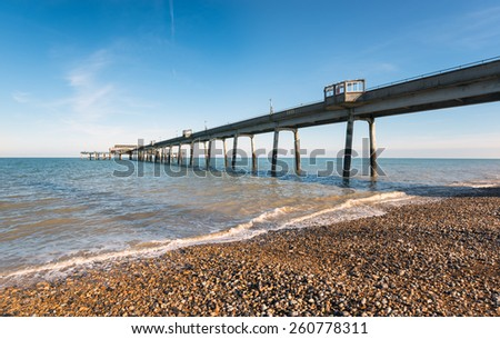 The pier at Deal on the Kent coast - stock photo