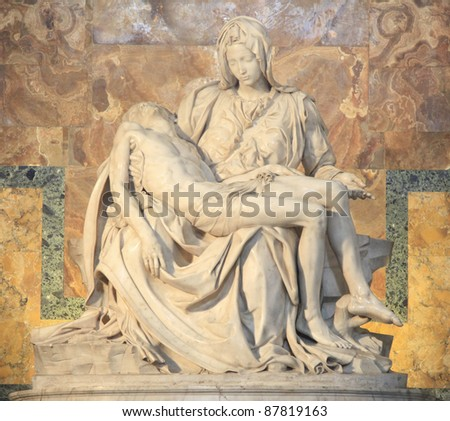 The Pieta in Saint Peter's Cathedral, Italy - stock photo