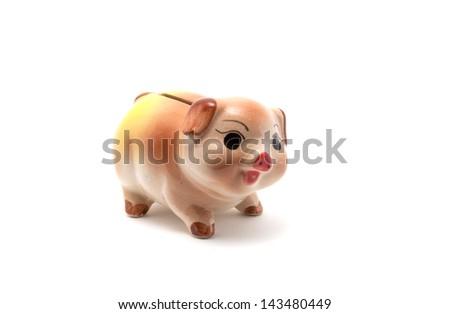 The pig piggy bank - stock photo