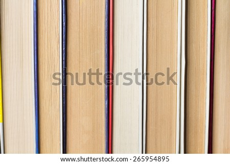 The pile of books close-up - stock photo