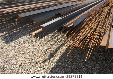 The Pile of rusty metal pipes