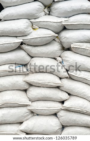 The pile of textured white bags - stock photo