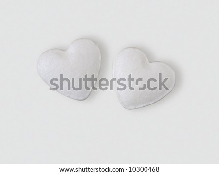 The pills in the form of heart.