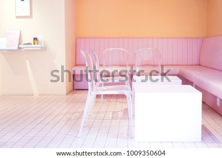 Pink Seats Pink Room Pink Cafe Stock Photo (Safe to Use) 1009350604 ...
