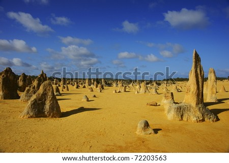 The Pinnacles Desert in Perth, Western Australia - stock photo
