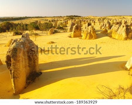 The Pinnacles Desert in Western Australia - stock photo