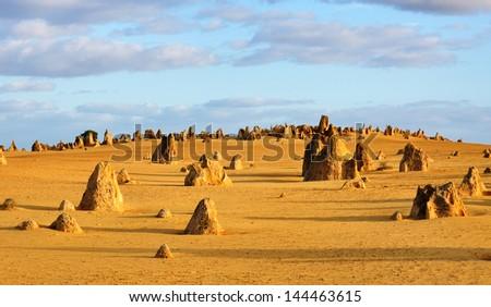 The Pinnacles Desert Western Australia - stock photo