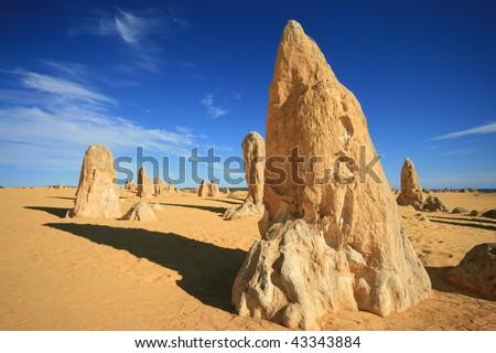 The Pinnacles, Nambung National Park, Western Australia - stock photo
