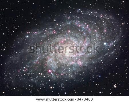 The Pinwheel galaxy M33 - stock photo