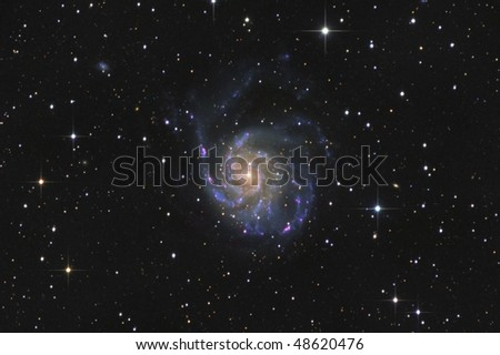 The Pinwheel Galaxy Messier 101 - stock photo