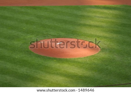 The Pitcher's Mound - stock photo