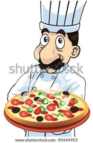 The Pizza Chef - stock photo