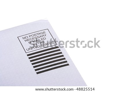 The place for a stamp on which is written that sending can be made without a stamp on territory of the United States of America.