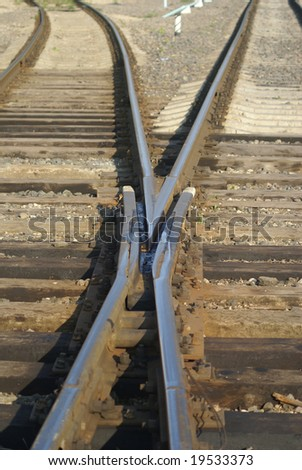the place of the two railway canvases - stock photo