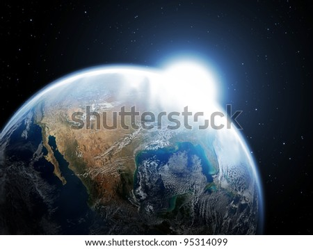 The planet - stock photo