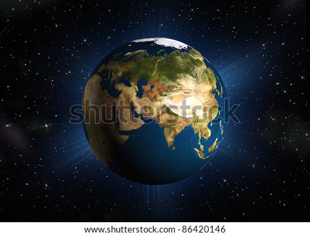 The planet earth. Eurasia.