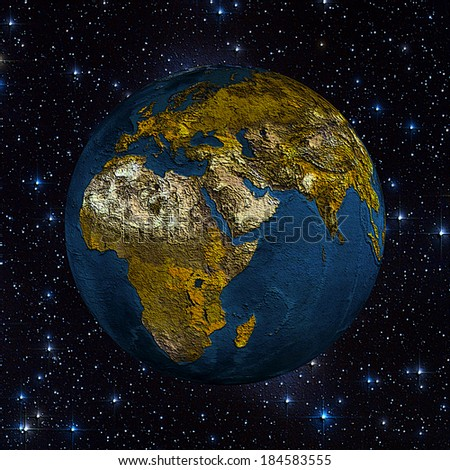 The planet earth in space full of stars (Elements of this image furnished by NASA)