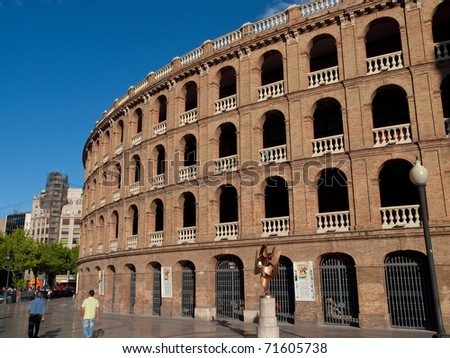 The Plaza de Toros in Valencia, Spain. - stock photo
