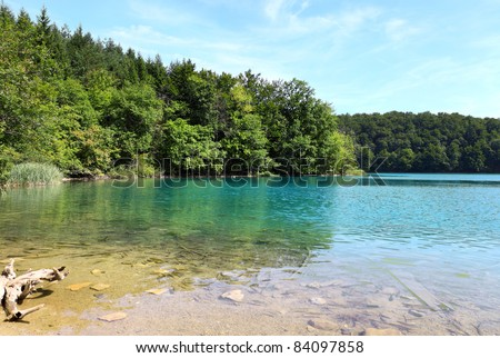 The Plitvice Lakes National Park (Croatia) - stock photo