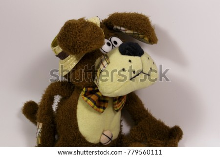 Plush Dog Straw Hat Symbol New Stock Photo Safe To Use 779560111