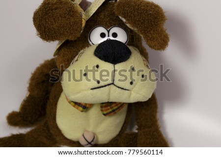 Plush Dog Straw Hat Symbol New Stock Photo Safe To Use 779560114
