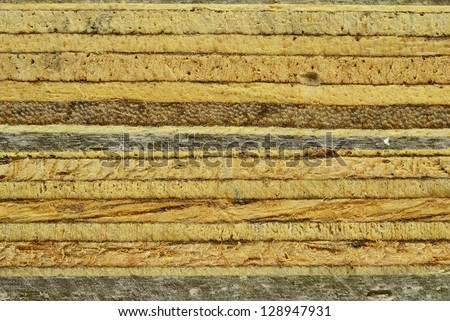 The plywood after sawing by saw  texture background - stock photo