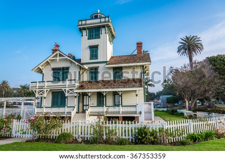 The Point Fermin Lighthouse is an historical landmark in San Pedro, California.  It was built at the top of the cliff in 1874.