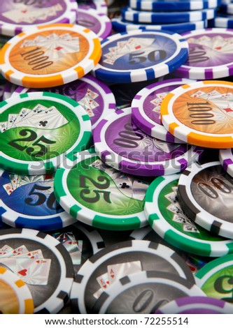The poker table and a card, ace, gambling - stock photo